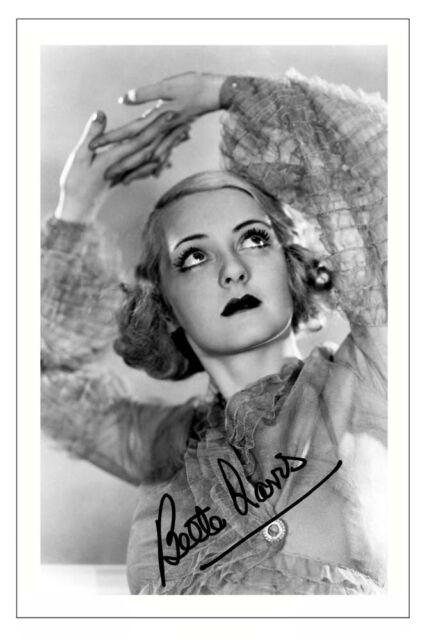 Vintage Art Poster Silver Screen Actress Bette Davis 02 Print A4 A3 A2 A1