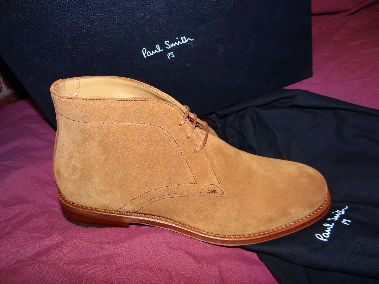 Paul Smith FAB Tan terracotta in 41 Pelle Scamosciata Chelsea EU 41 in US 8 ab7835