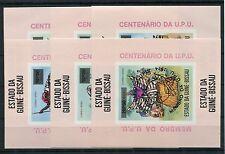 Guinea Bissau Block 12 aB - 17 aB postfrisch / UPU - Musik - Tanzen ......1/2667