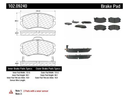 Disc Brake Pad Set-C-TEK Metallic Brake Pads Front Centric 102.09240