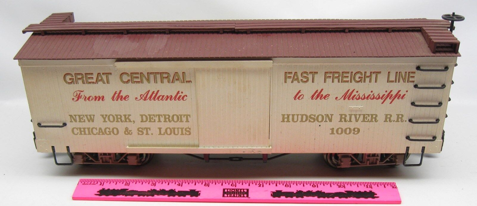 Bachmann 1009 Great Central Fast Freight Line box box box car  G scale db0826