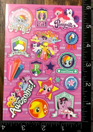MY LITTLE PONY TWO SHEETS STICKERS FOR SCRAPBOOK FAVORS PARTY BAG FILLERS #MLP9