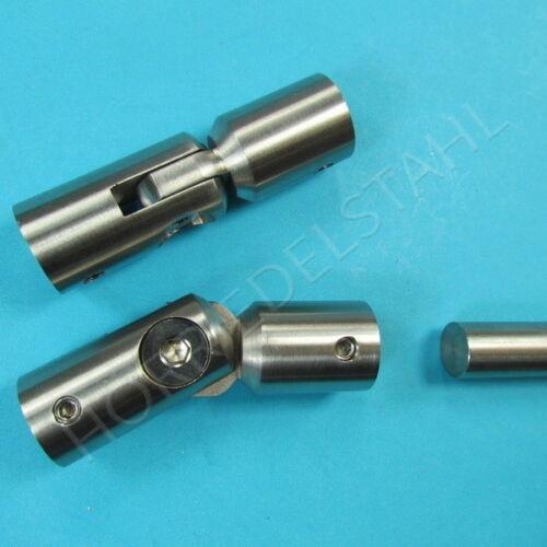 Varilla redonda articular conector para 10 mm de acero inoxidable alrededor de con tornillo prisionero