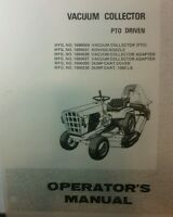 Simplicity Homelite Garden Tractor Vacuum Collector Manual 8pg Lawn Riding Pto