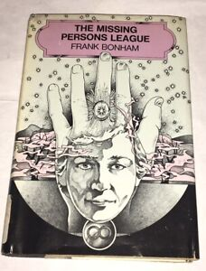 The-Missing-Persons-League-by-Frank-Bonham-1976-First-Edition-Hardcover