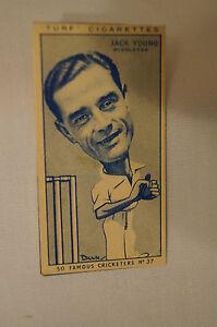 1950-Vintage-Cricket-Card-Carreras-Turf-Slides-Jack-Young-Middlesex