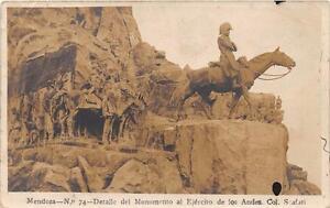 CPA-ARGENTINE-MENDOZA-DETALLE-DEL-MONUMENTO-AL-EJERCITO-DE-LOS-ANDES