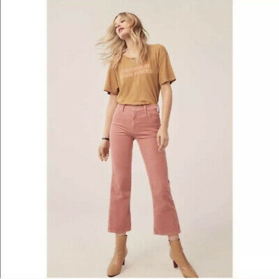 Mother High Waisted Looker Ankle Chew Corduroy In Honey Size 26,28,/& 30 NWT