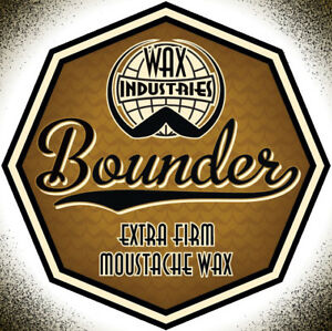 Details about Bounder extra-firm moustache / mustache wax 10g tin