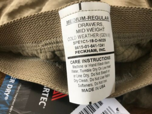 US Army Thermohose NSN 8415-01-641-1241! Unisex Cold Weather Drawers