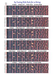 Aperti-E9TH-Slide-Rule-Carta-per-10-Corda-Acciaio-Chitarra-Lap-Pedale