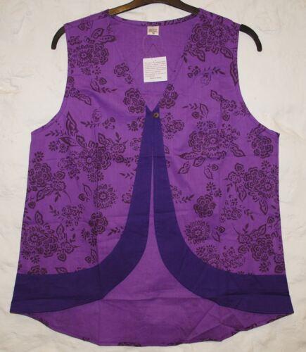New Fair Trade Waistcoat 22 24 Hippy Boho Ethnic Ethical Festival Nepal