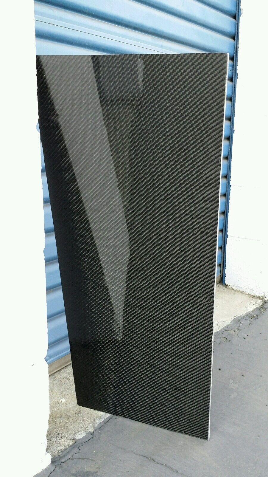 Panel De Fibra De Vidrio Fibra De Carbono Real Hoja 6 x66 x3 32  brillante de ambos lados