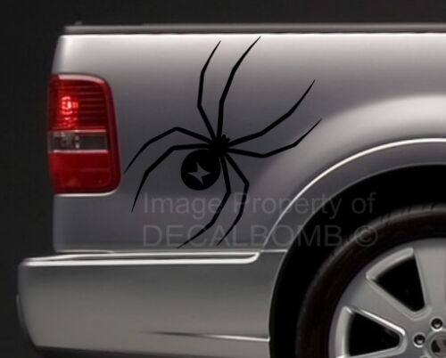 """large BLACK WIDOW vinyl spider decals stickers truck diesel turbo pro 36/"""" X 22/"""""""