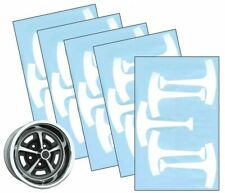 1967 76 Ford Mustang 14 Amp 15 Magnum 500 Wheel Paint Mask Stencil Kit Set Fits Mustang