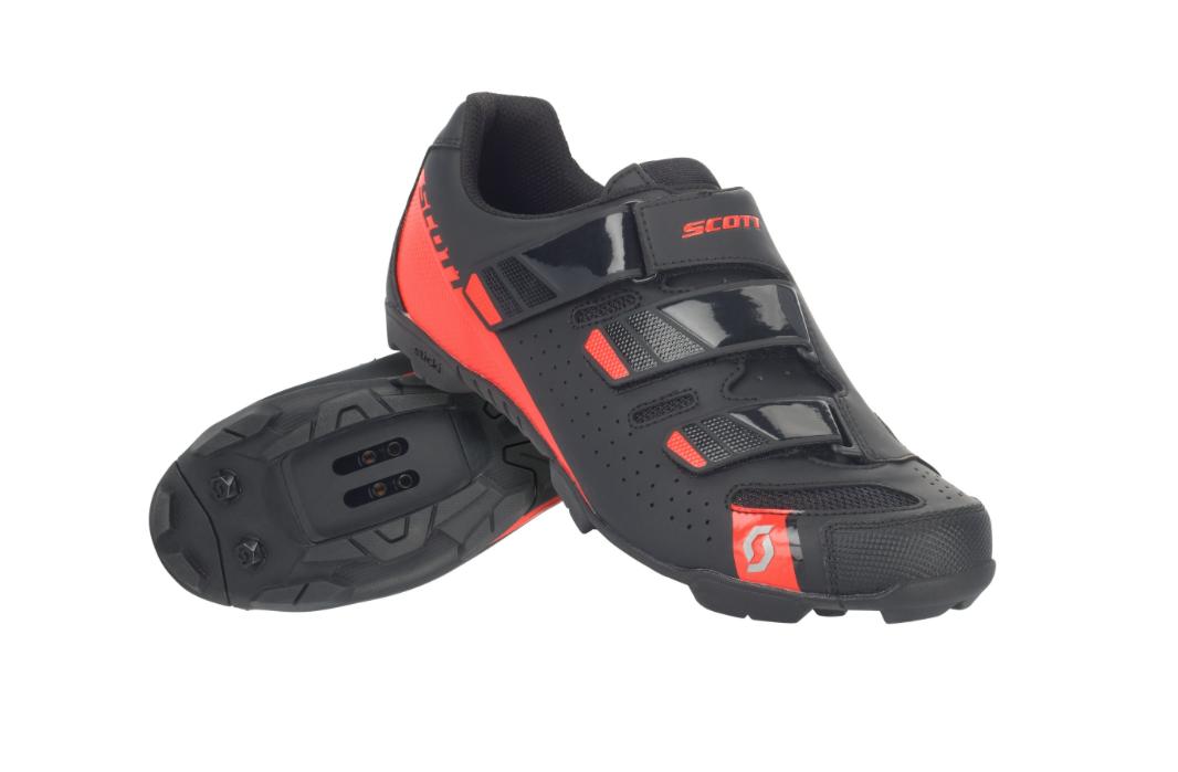 SCARPE scarpe SCOTT MTB COMP RS Coloreeee NERoroSSO FLUO taglia 44