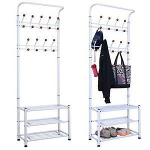yaheetech free standing coat rack stand entryway hooks. Black Bedroom Furniture Sets. Home Design Ideas