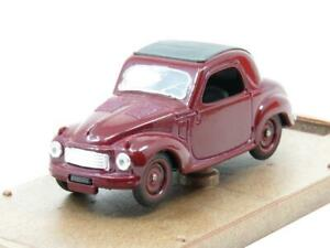 Brumm-Diecast-R12-FIAT-500c-TOPOLINE-1949-Dark-Red-MAROON-1-43-scala-in-Scatola