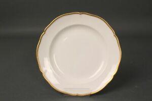 Cake-Plate-KPM-English-Smooth-Gold-Uninstall-Kor-White-Rim-Gut-Condition-21cm