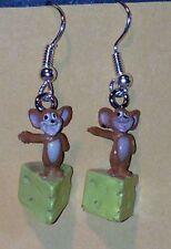 """HANNA BARBARA Tom & Jerry FIGURE """"Jerry"""" FIGURE DANGLE EARRINGS NEW"""