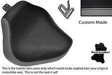 GREY & BLACK CUSTOM FITS YAMAHA XVS 1100 DRAGSTAR FRONT LTHR SEAT COVER