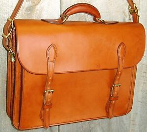 Handmade-European-Style-Bridle-Leather-Briefcase