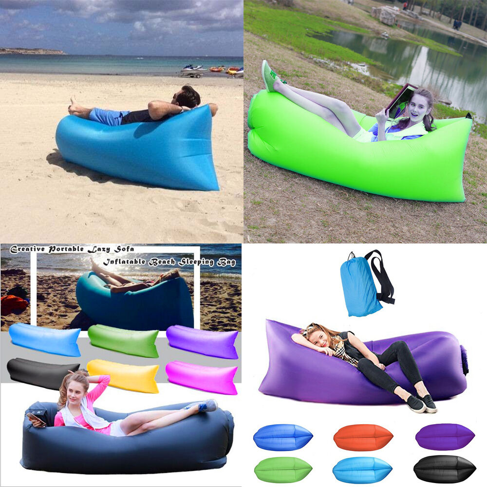 Inflatable Sofa Air Bed Lounger: Outdoor Inflatable Sofa Air Bed Lounger Chair Sleeping Bag