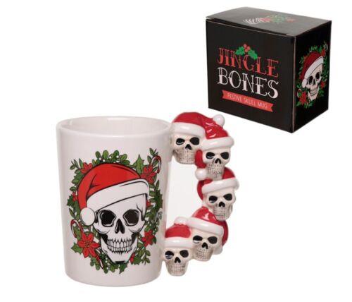 Gothic Noël Crâne Tasse Nouveauté Jingle Os Cadeau De Noël Lui ses enfants cadeau