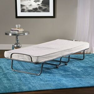 Image Is Loading Folding Guest Bed Grey Cover Twin Size Metal