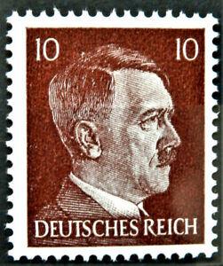 WW2 REAL NAZI 3rd REICH ERA GERMAN STAMP ADOLF HITLER REICHSKANZLER 10rf MNH