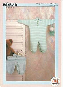 Lovely double knitting pattern for baby/childs all-in-one ...