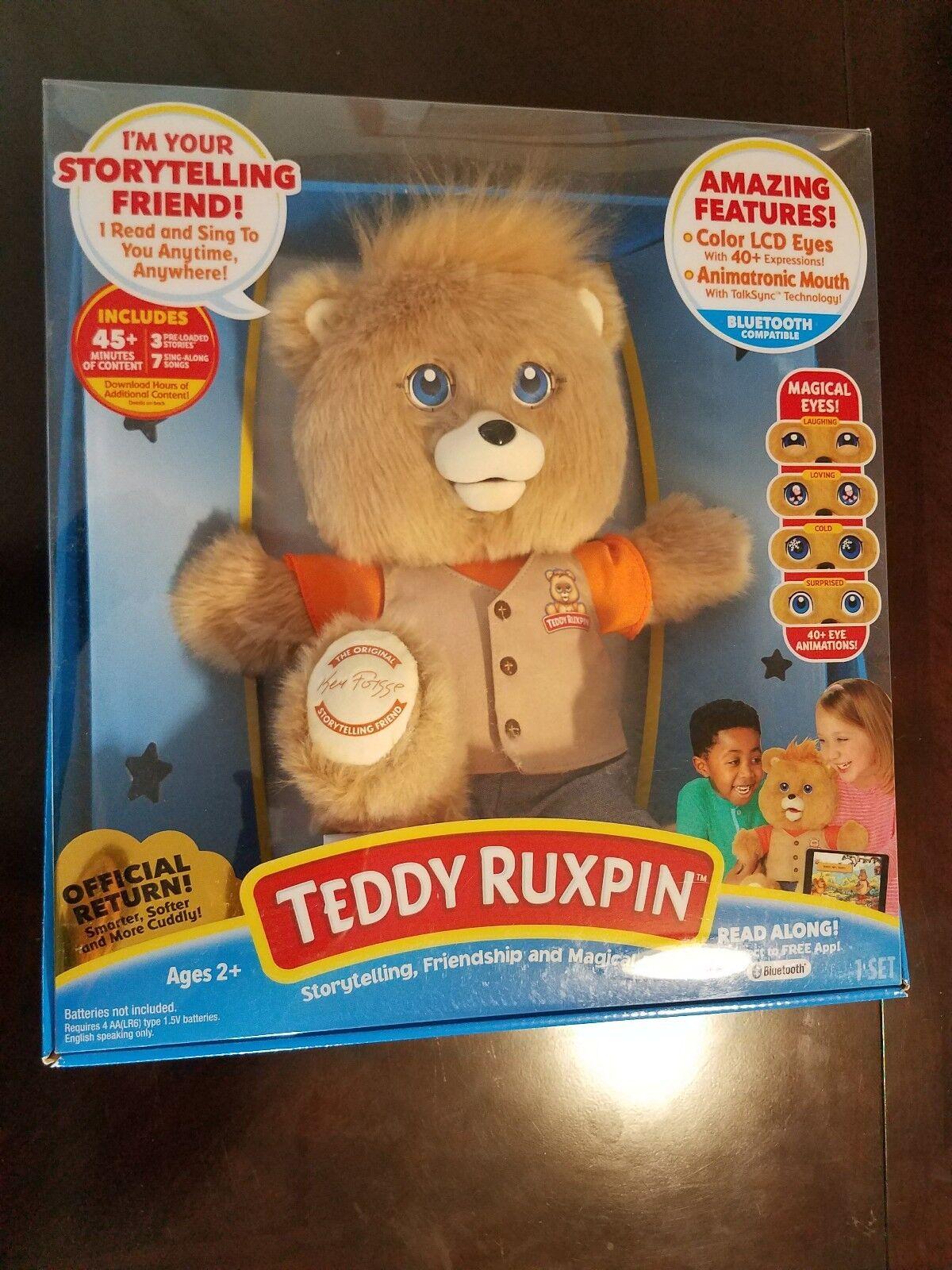 New Teddy Ruxpin Animated Bear Books Talking Reading