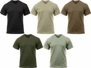 Image is loading Solid-Moisture-Wicking-Tactical-Military-Silky-Polyester-T- c7601766d79