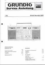Grundig Service Manual für Satellit Recorder 4000