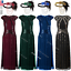 miniature 1 - 1920s Flapper Dress Gatsby Formal Evening Cocktail Maxi Dress Gown Plus Size