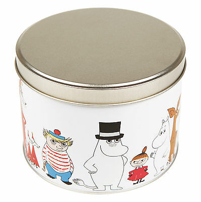 Moomin Characters Tin Can Round Mamma Pappa Troll Stinky  Martinex Finland