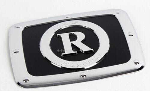 Chrome Gas Fuel Filler Door Cap Molding Trim Cover for 01 Rexton w//Tracking No