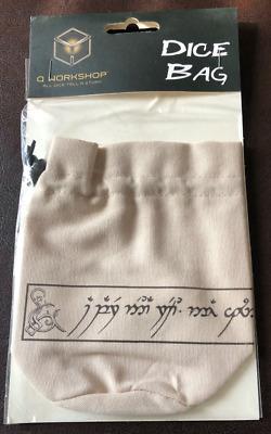 Elvish Beige /& black Basic Dice Bag
