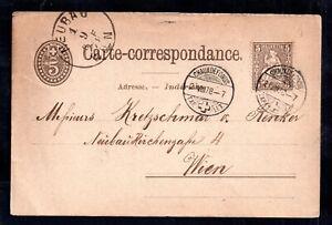 Switzerland-1878-Postcard-to-Wien-5c-stamp-WS16430