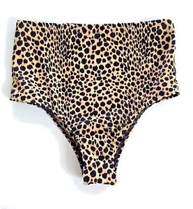 d6c1008f6c6e3 NWT Victorias Secret Swim High Waist Cheeky Bikini Bottom Animal ...