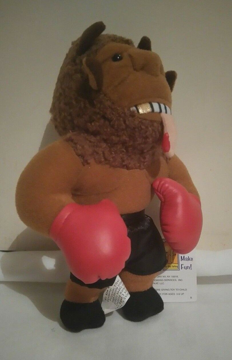 Infamous Meanies Mike   Bison   Tyson Plush Soft Toy Buffalo Figure Doll W Tag