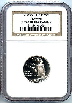 2008 S Hawaii Silver NGC PF 70 UCAM