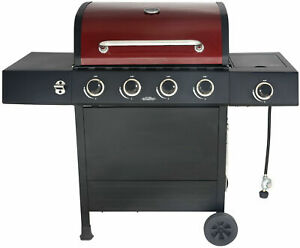 4-Burner Gas Grill with Side Burner Outdoor Stainless ...
