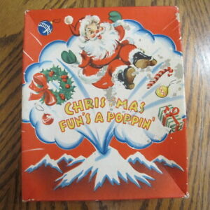 Vintage Christmas Card.Details About Vintage Christmas Card Box Christmas Fun S A Poppin And Vintage Used Cards