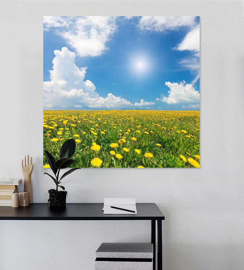 3D Zahlreiche yellowe bluemen Fototapeten Wandbild BildTapete Familie AJSTORE DE