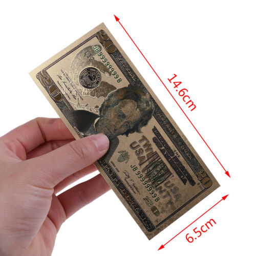7Pc//set commemorative gold foil USA dollars paper money banknotes collections BE