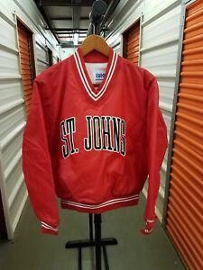 Vintage-80-039-s-90-039-s-NCAA-St-Johns-Storm-Throwback-Pullover-Jacket-MINT-Sz-Medium