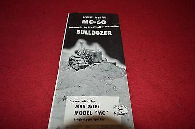 John Deere MC-60 Bulldozer For 1950 Dealer/'s Brochure DCPA5