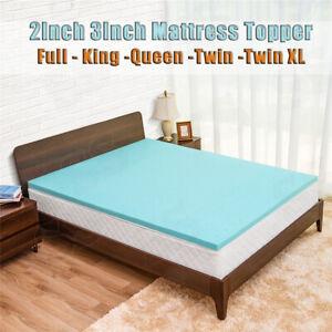 2-034-3-034-Gel-Memory-Foam-Bed-Mattress-Pad-Cover-Topper-Queen-King-Full-Twin-XL