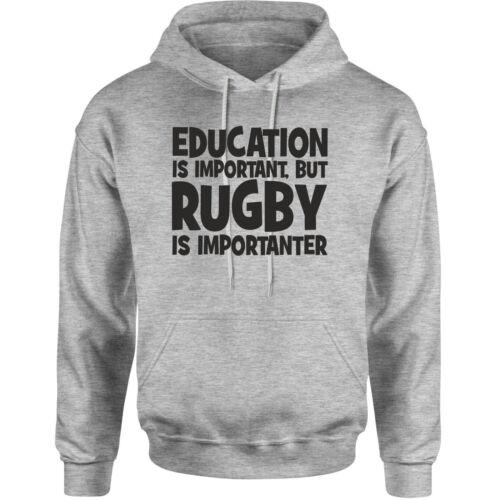 EDUCATION RUGBY novelty hoodie birthday xmas gift adults kids unisex hoody